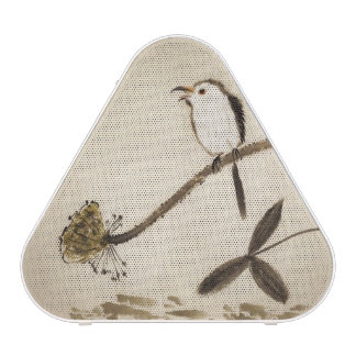 Chinese traditional ink painting with birds bluetooth speaker