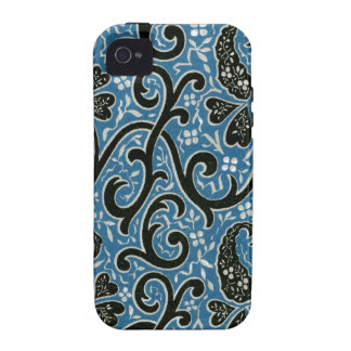 Chinese Turquoise and Black Pattern Vibe iPhone 4 Case
