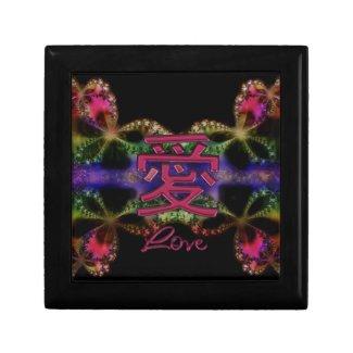 Chinese Valentine ~ Red Love Symbol Gift Box