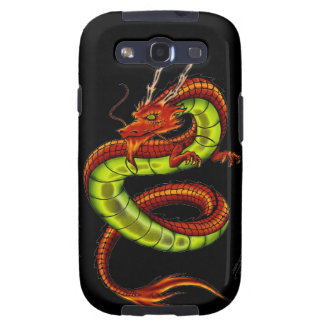 CHINESE VIBRANT DRAGON GALAXY S3 COVERS
