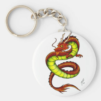 CHINESE VIBRANT DRAGON KEYCHAINS