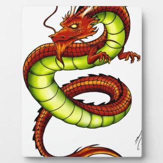 CHINESE VIBRANT DRAGON DISPLAY PLAQUE
