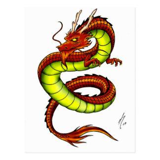 CHINESE VIBRANT DRAGON POSTCARD