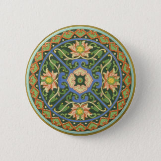 Chinese Vintage Pattern Cloisonne Button