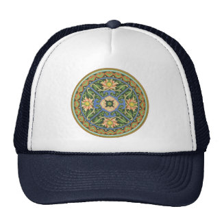 Chinese Vintage Pattern Cloisonne Trucker Hat