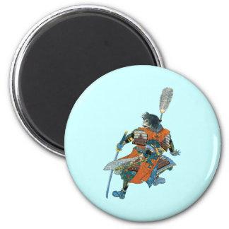 Chinese warrior Chinese warrior 2 Inch Round Magnet