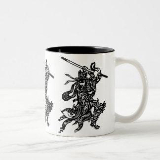 Chinese Warrior Two-Tone Coffee Mug