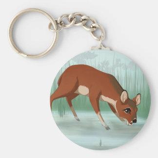 Chinese water deer keychain