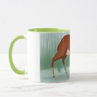 Chinese water deer mug