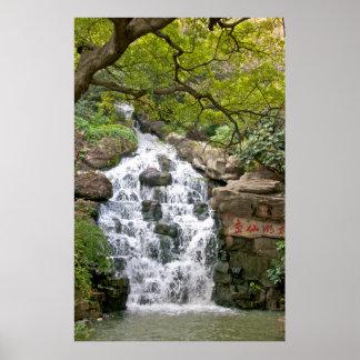 Chinese Waterfall Poster