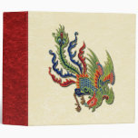 Chinese Wealthy Peacock Tattoo 3 Ring Binders