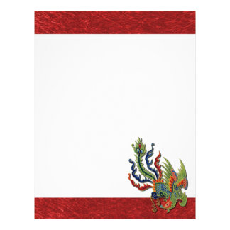 Chinese Wealthy Peacock Tattoo Letterhead
