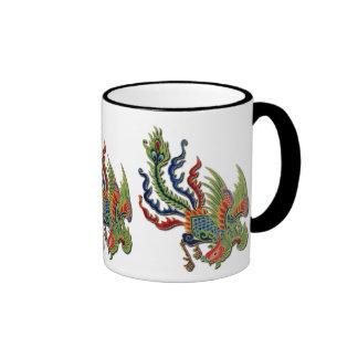 Chinese Wealthy Peacock Tattoo Mug