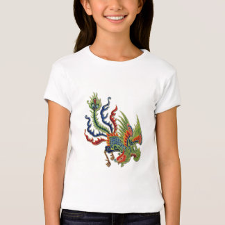 Chinese Wealthy Peacock Vintage Tattoo T-Shirt