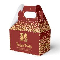 Chinese Wedding  中式婚礼礼盒喜欢个性化的红金现代优雅 Favor Box
