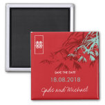 Chinese Wedding Bamboo Zen Modern Save The Date Magnet