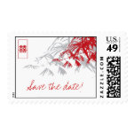 Chinese Wedding Bamboo Zen Modern Save The Date Stamps