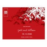 Chinese Wedding Bamboo Zen Modern Save The Date Postcard