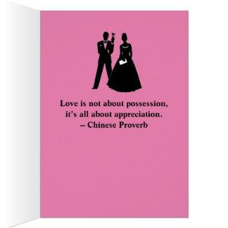 Chinese Wedding Congratulatory Card