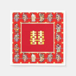 chinese wedding good luck serviettes napkins standard cocktail napkin