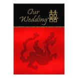 Chinese Wedding Invitation Double Happiness Dragon