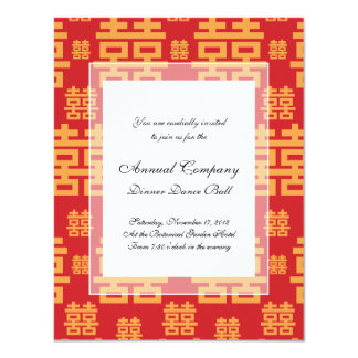 Chinese Wedding or Engagement Double Happiness Card