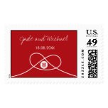 Chinese Wedding Red Knot Double Happiness Stamp