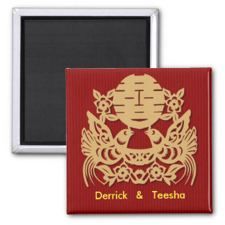 Chinese wedding save the date magnet