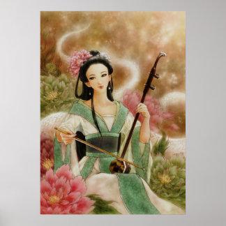 Chinese White Snake Spirit Fantasy Art Poster