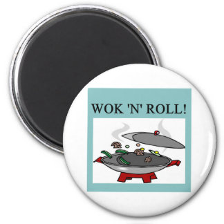 chinese wok cooking 2 inch round magnet