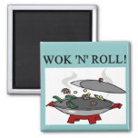 chinese wok cooking 2 inch square magnet