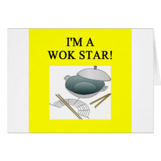 chinese wok cooking card