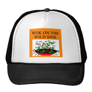 chinese wok cooking trucker hats