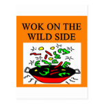 chinese wok cooking postcards