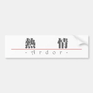 Chinese word for Ardor 10170_3.pdf Car Bumper Sticker