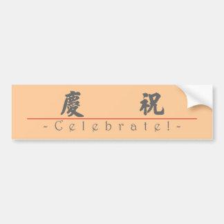 Chinese word for Celebrate! 10127_4.pdf Car Bumper Sticker