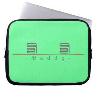 Chinese word for Daddy 10130_0.pdf Laptop Computer Sleeves