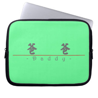 Chinese word for Daddy 10130_4.pdf Laptop Computer Sleeves