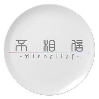 Chinese word for Disbelief 10056_0 pdf Party Plates