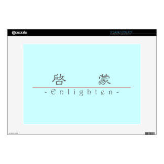 """Chinese word for Enlighten 10330_2 pdf Decals For 15"""" Laptops"""