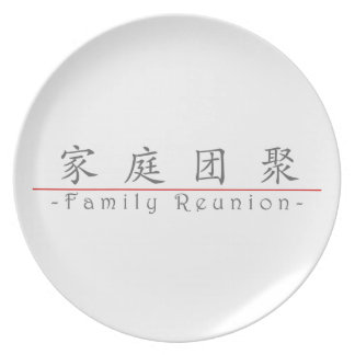 Chinese word for Family Reunion 10136_1 pdf Party Plates