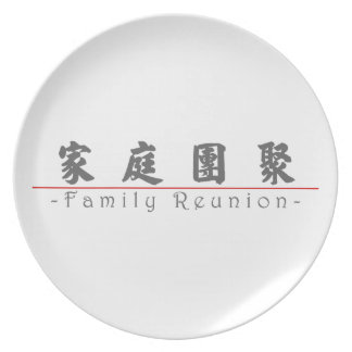 Chinese word for Family Reunion 10136_4 pdf Party Plates