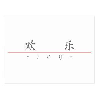 Chinese word for Joy 10032_1.pdf Postcard