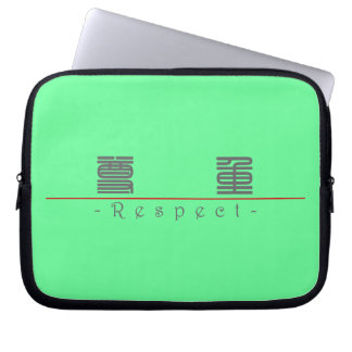 Chinese word for Respect 10059_0.pdf Laptop Computer Sleeve