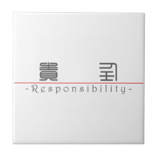 Chinese word for Responsibility 10371_0 pdf Ceramic Tile