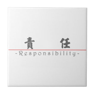 Chinese word for Responsibility 10371_4 pdf Ceramic Tile