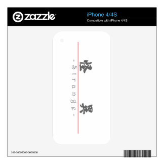 Chinese word for Strange 10074_4 pdf iPhone 4S Decals