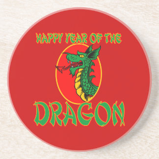 Chinese Year of the Dragon Cartoon Beverage Coaster