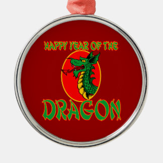 Chinese Year of the Dragon Cartoon Metal Ornament