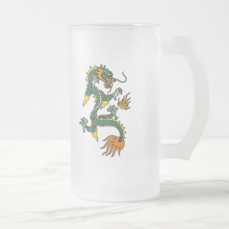 Chinese Year of the Dragon Frosted Glass Beer Mug